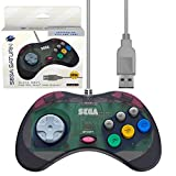Retro-Bit Official Sega Saturn USB Controller Pad for PC, Mac, Steam, RetroPie, Raspberry