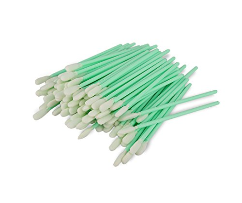 Zetek 100pcs Foam Tip Cleaning Swabs Sponge Stick for Inkjet Printer, Printhead, Camera, Cleanroom, Optical Lens, Gun, Automotive Detailing, Optical Equipment