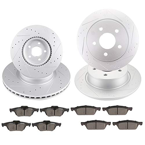 Amazon.com: OCPTY Brakes and Rotors Set with 4 Brake Disc Rotots and 8 Ceramic Pads fit for 2013 2014 2015 2016 Ford Escape,2014 2015 Ford Transit Connect: ...