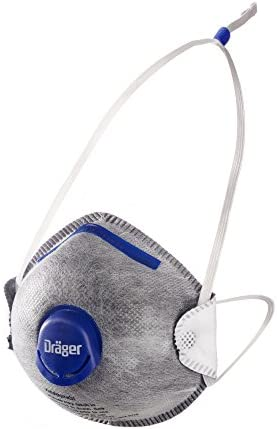 Dräger X-plore 1350 N95 Odor Particulate Respirator with Exhalation Valve, 10 Pack, Size S/M, NIOSH-Certified Dust Mask with Nuisance Level Organic Vapor Relief, Adjustable Head Harness
