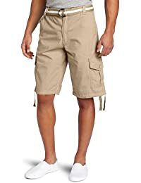 Men's All-Season Belted Ripstop Basic Cargo Short