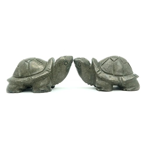 SatinCrystals Pyrite Animal Turtle Set 2