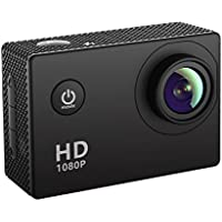 Cymas Sports Action Camera, Full HD 1080P 2.0 Inch Waterproof Camera Underwater Camcorder Kit with 170 Degree Wide Angle Lens and 16 Accessories