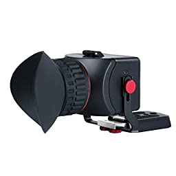Movo Photo VF40 Universal 3X LCD Video Viewfinder with Flip-Up Eyepiece for Canon EOS, Nikon, Sony Alpha, Olympus & Pentax DSLR Cameras - Fits 3\