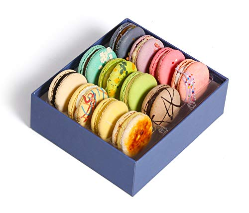 French Macarons Cookies Premium Gourmet Chocolate Gift Basket Idea Birthday Food Snack Sympathy Thank You Halloween Anniversary Get Well Corporate Thanksgiving Holiday Christmas Her Him Prime -