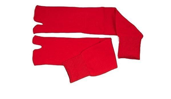 Artes marciales Ninja Tabi calcetines - rojo (talla 7-11 ...