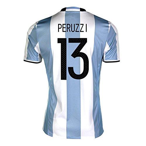 大学院ラショナル地上のPeruzzi #13 Argentina Home Soccer Jersey Copa America Centenario 2016/サッカーユニフォーム アルゼンチン ホーム用 パストーレ 背番号13
