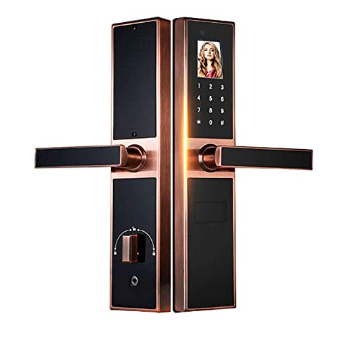 GAOPIN Combination Locks - Electronic Keyless Biometric Face, Palm-Print Recognition Smart Door Lock for Home and Apartment or Hotel etc, Red Copper,4 by GAOPIN (Image #7)