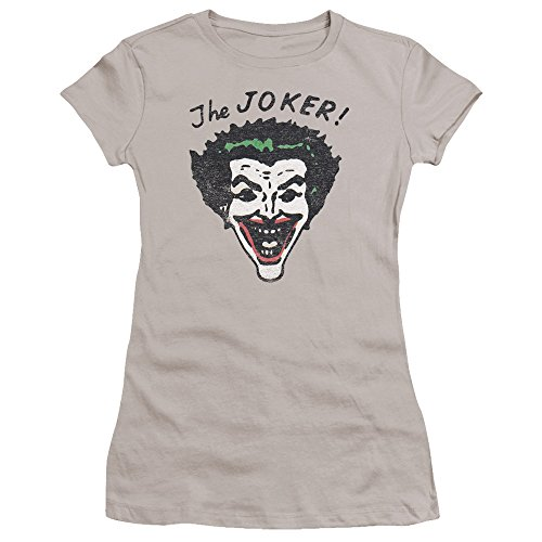 Batman+Retro+Shirts Products : Batman Retro Joker Juniors Premium Bella Shirt