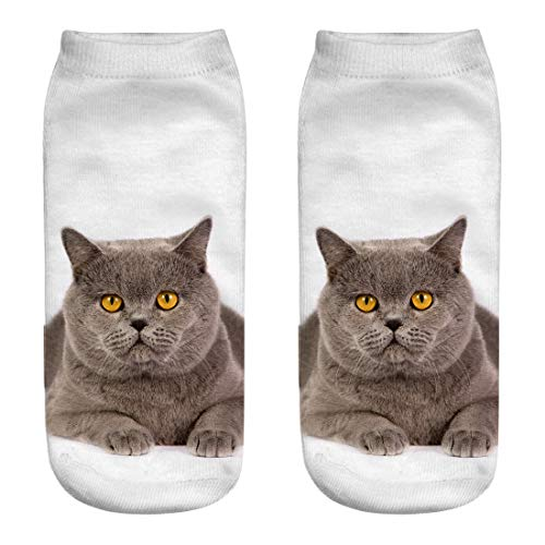 Tronet Athletic Socks/Cat Printed Crew Socks 3D Sublimated Elastic Novelty Crazy Cool Socks for Gifts ()