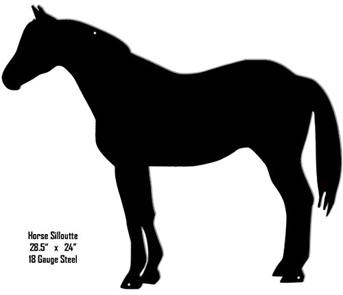 Horse Silhouette Laser Cut Out Metal Sign - Horse Silhouette Metal