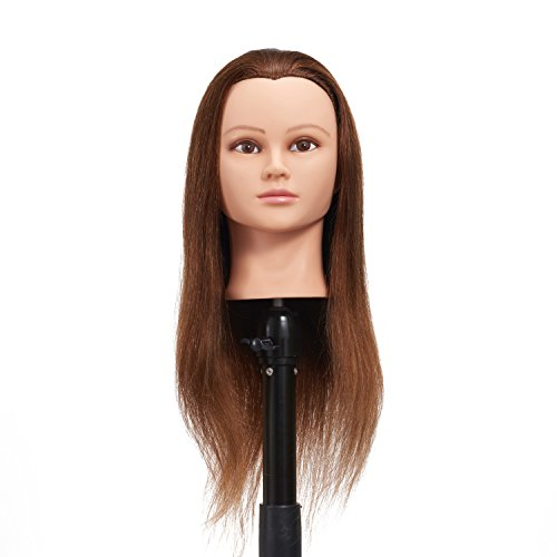 "Hairginkgo 24-26"" 100% Human Hair Training Practice Head Styling Dye Cutting Mannequin Manikin Head (91806W0418)"
