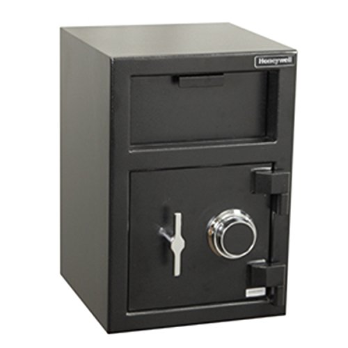 Honeywell Safes & Door Locks - 5911 Steel Depository Security Safe with Spy-Proof 4 Digit Combination Lock, 1.06 Cubic Feet, Black