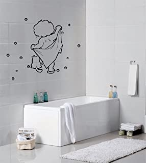 Washing Baby Cute Cartoon Bubble Bathroom Wall Sticker/wall Deco(appx.29cm* Part 58