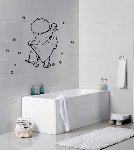 Washing Baby Cute Cartoon Bubble Bathroom Wall Sticker/wall Deco(appx.29cm* Part 48