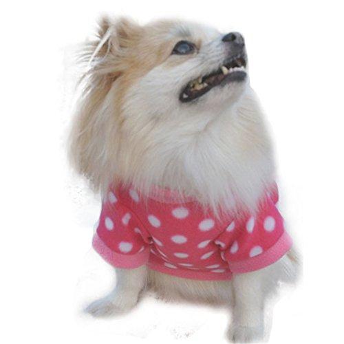 HN New Fashion Pet Cat Dog Villus Clothes Winter Pet Fleeces Clothing Hot (S, Hot Pink)