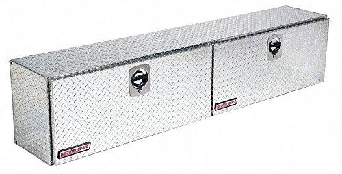 Aluminum Topside Truck Box, Silver, Double, 15.2 cu. ft.