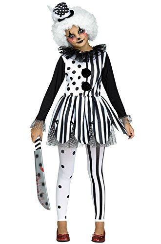 Fun World Big Girl's Killer Clown Girls Children's Costume, Multicolor, Large -