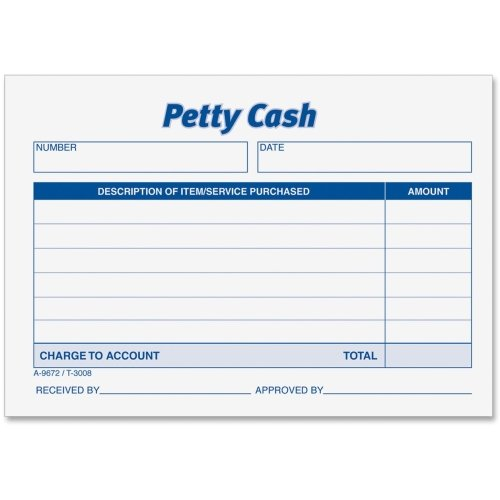 Adams Petty Cash Receipt Pad - 50 Sheet(s) - Gummed - 1 Part - 5.50