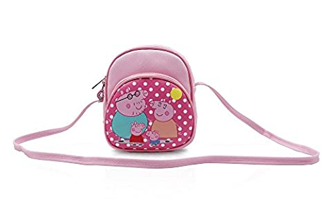 Finex Red Peppa Pig Canvas Little Handbag Purse for kids toddlers preschoolers girls boys (Peppa Pig George Boots)