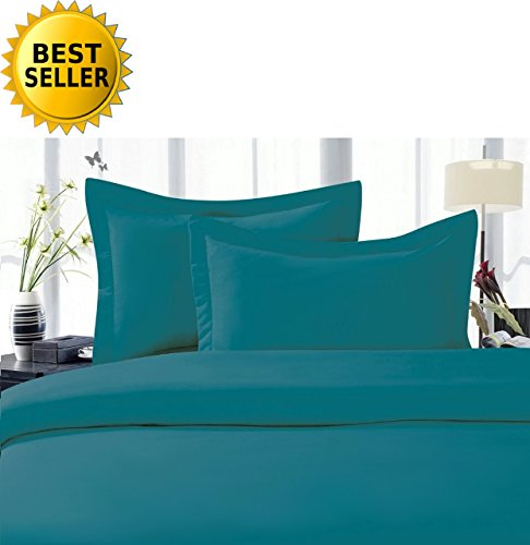 CELINE LINEN Best, Softest, Coziest Duvet Cover Ever! 1500 Thread Count Egyptian Quality Luxury Super Soft Wrinkle Free 3-Piece Duvet Cover Set, King/Cali King, Turqouise
