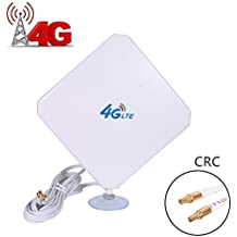 AMAKE 4G LTE Antenna CRC9 Connector Dual Mimo Outdoor Signal Booster Amplifier Receiver 35dbi High Gain Long Range Network Ethernet for Wifi Router Mobile Broadband(CRC9)