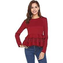 SoTeer Womens Peplum Top Shirt