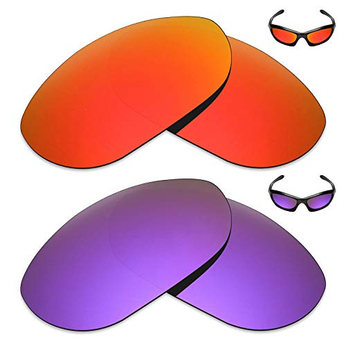 (Mryok 2 Pair Polarized Replacement Lenses for Oakley Monster Dog Sunglass - Options)