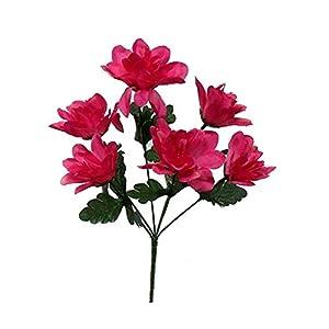 Kampoojoo - Mauve Dahlia Flowers Centerpieces Bridal Silk Wedding Bouquets (Set of 12) 23