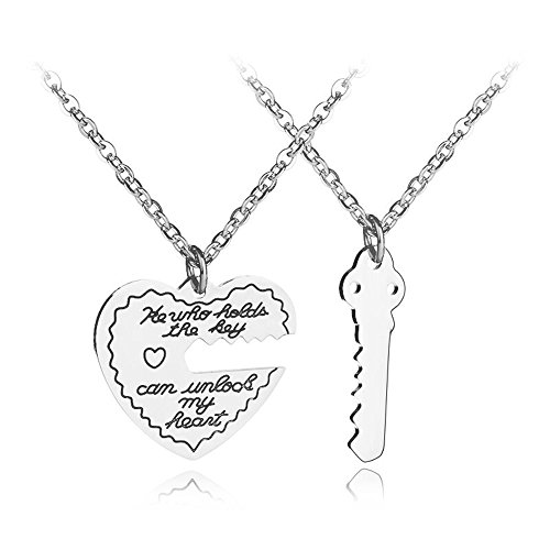 ZJ ZHIJIA JEWELRY 2ps Mens Womens Key Lovers