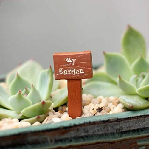Seed Home Resin Sign Board Bonsai Figurines Micro Landscape Crafts Signboard Mini Fairy Garden Moss Decor