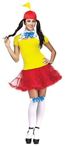 Tweedle Dum And Tweedle Dee Halloween Costumes (Fun World Costumes Women's Tweedle Dee Dum Adult Costume, Yellow/Red, Small/Medium)