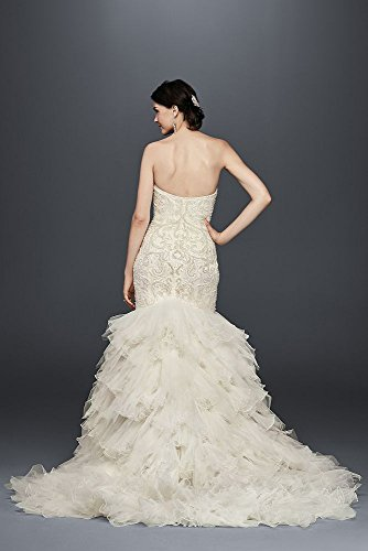 Wedding Bridal Skirt David's SWG760 Beaded Style Ivory Mermaid Dress Tulle qtx6wdA
