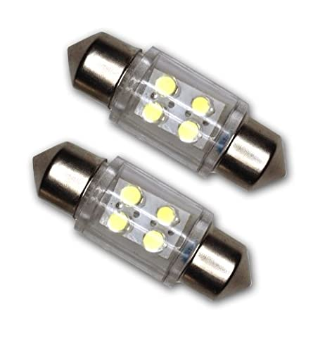 TuningPros LEDTCL-31M-W4 Trunk Cargo Light LED Light Bulbs Festoon 31mm, 4 LED White 2-pc Set - 1995 Honda Civic Trunk