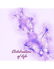 Purple Butterfly Funeral Guest Book: Celebration of Life: Memorial, Condolence & Remembrance Book | Family & Friends Keepsake Sign In Book with Registry Lines for Names, Address Messages & Picture Insert