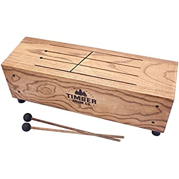 timber drum company t18 m made in usa slit tongue log drum with mallets video. Black Bedroom Furniture Sets. Home Design Ideas