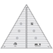 """Creative Grids 60 Degree Equilateral Triangle 12.5"""" / for Up To 12"""" Finished Size Quilting Ruler Template [CGRT12560]"""