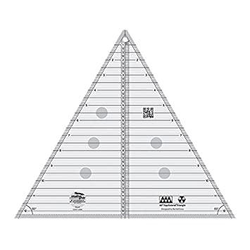 graphic relating to Printable 12 Inch Ruler named Imaginative Grids 60 Diploma Equilateral Triangle 12.5\