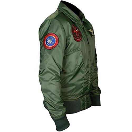 Tom Cruise Top Gun Maverick Nylon Green Bomber Jacket