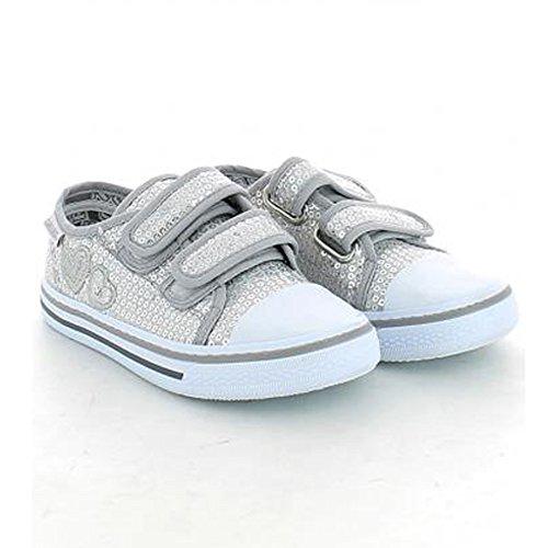 CANGURO Jungen Sneaker Grau Grau 29 EU Silber / Schwarz
