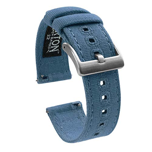 20mm Nantucket Blue - Barton Canvas Quick Release Watch Band Straps - Choose Color & Width - 18mm, 20mm, 22mm (Samsung Galaxy Tab S2 Best Price)