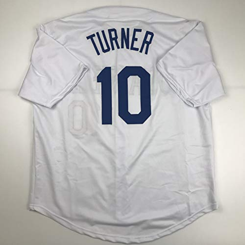 Unsigned Justin Turner Los Angeles LA White Custom Stitched Baseball Jersey Size Men's XL New No Brands/Logos