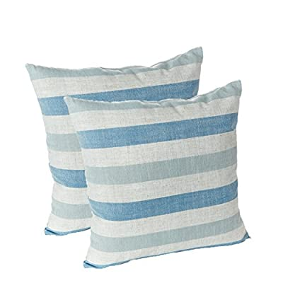 Klear Vu Liza Stripe Decorative Throw Pillow - Set of 2