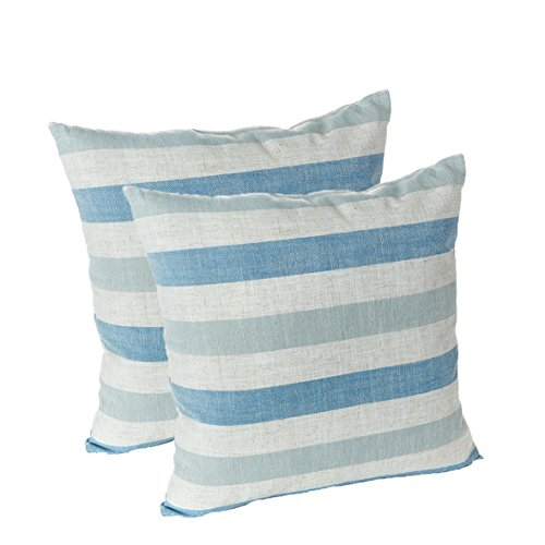 Klear Vu Liza Throw Pillows, 2 Pack, Blue