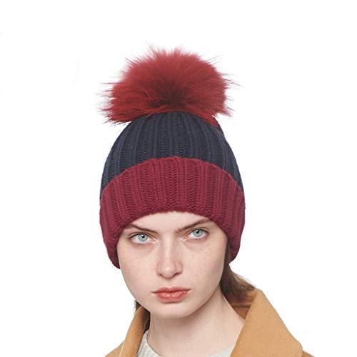 Coreano Mujer Lana Red Invierno A Pelo Gorros Bola Juego Ocasional De Sombrero Otoño Color Femenina Punto qw0TBA6TxF