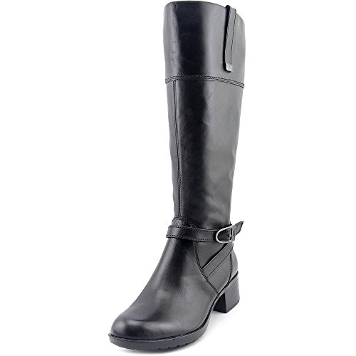 Bandolino Women's Baya-Wide Calf Riding Boot, Black, 6.5 M US