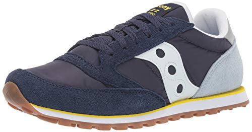 Saucony Originals Men's Jazz Lowpro Sneaker, Light Blue/Yellow, 11.5 M US