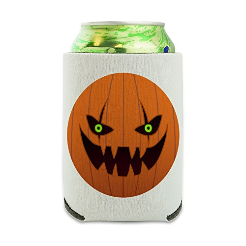 Jack-o'-lantern Pumpkin Face Halloween Decoration Can Cooler -