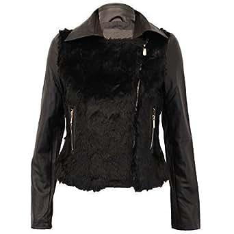 Brave Soul Womens Leather Look Biker Jacket Iggy At Amazon