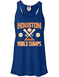 Womens Houston World Champs 2017 Flowy Racerback Tank Top T-Shirt